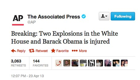 AP 2013 Tweet Hurt Stocks
