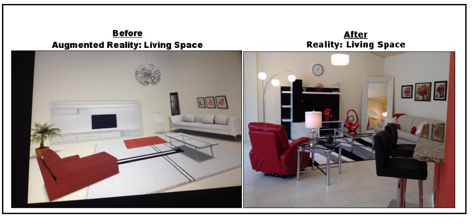 Augmented Reality Home Decor Before & After