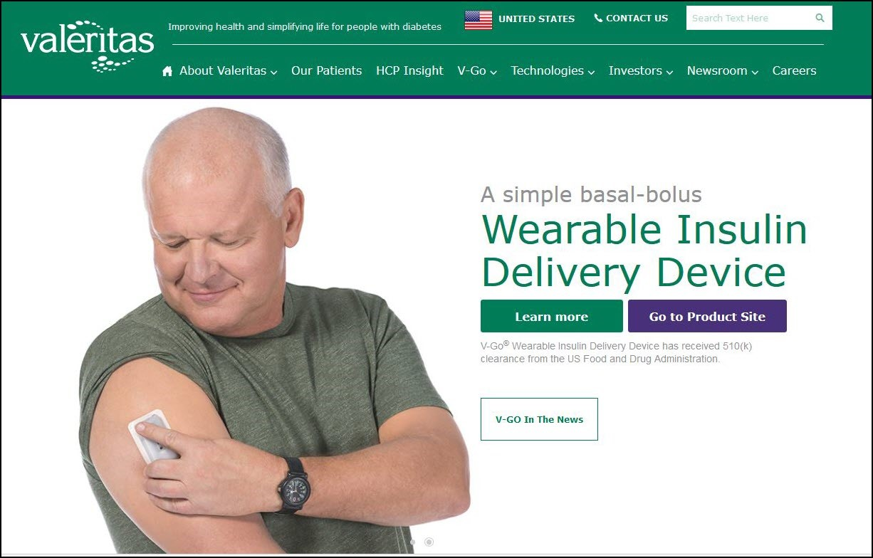 Valeritas Diabetes Arm Device