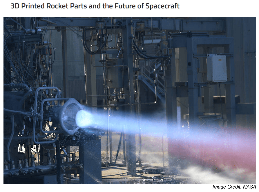 NASA 3d printed rocket parts