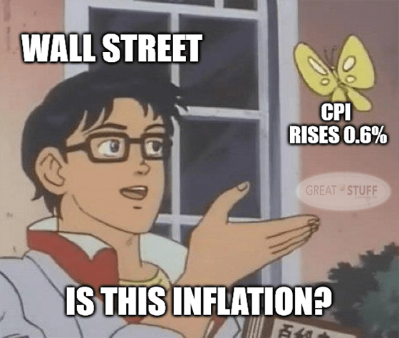 Wall Street vs. CPI 0.6% is this inflation meme big
