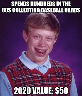 Collecting baseball cards Topp SPAC meme