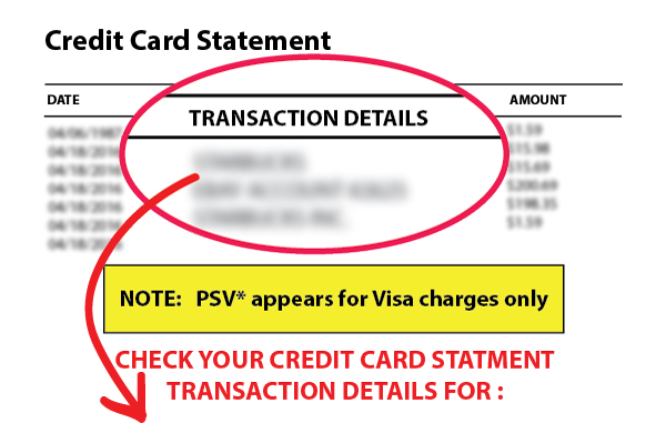 PSV Credit Card Charge Quick Hit Profits