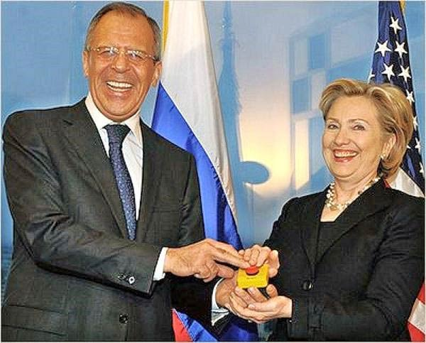 Hillary Clinton and Sergei Lavrov